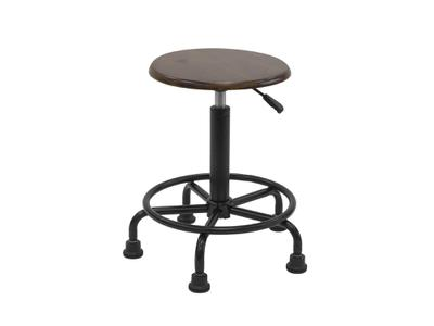 VINTAGE RETRO STOOL -RUSTIC OAK - PNEUMATIC SEAT ADJUSTMENT 2